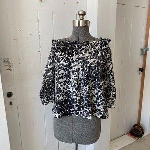 Matty M Silk Top Blouse Off the Shoulder Size XS